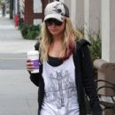 Ashley Tisdale combined two of her favorite things this afternoon, February 7, when she grabbed Coffee Bean and Tea Leaf with her dad and her niece, Mikayla while out in Los Angeles