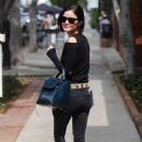 Lucy Hale Shopping on Melrose Place in West Hollywood