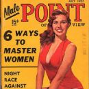 Paulette Nelson (Model) - Male Point Magazine Cover [United States] (July 1957)