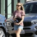 Amanda Seyfried in Denim Shorts – Out in West Hollywood