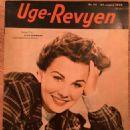 Jean Simmons - Uge-Revyen Magazine Cover [Denmark] (23 August 1949)