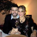 Shakira Mebarak and Gerard Pique 2013 New Years