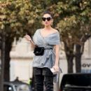 Shay Mitchell – Out and about in Paris