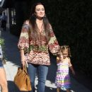 Kyle Richards and her daughters Alexia, Sophia and Portia out shopping in Beverly Hills, CA