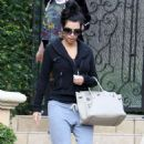 Kim Kardashian was spotted leaving her  house in Beverly Hills Sunday January 9, 2011