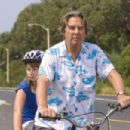 (L-r) BINDI IRWIN as Kirra Cooper and BEAU BRIDGES as Gus Grisby in Warner Premiere's family adventure 'Free Willy: Escape From Pirates Cove.' Photo by Joe Alblas