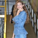 Gigi Hadid in Denim Outfit at Milk Studios in NYC