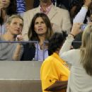 Alex Rodriguez and Cameron Diaz at the US Open 2010