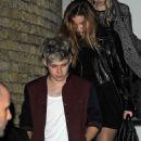 Niall Horan & rumored model girlfriend Barbara Palvin drink beers backstage at the X-Factor Finale - 454 x 651