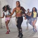 Alexandra Burke Shooting the Let It Go Video in 2012 - 454 x 460