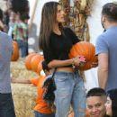 Alessandra Ambrosio Mr Bones Pumpkin Patch In West Hollywood
