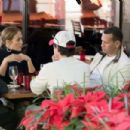 Jennifer Lopez and Alex Rodriguez at a Restaurant in Miami