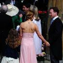 Geri Halliwell and Christian Horner  at Poppy Delevingne's wedding