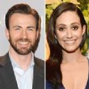 Emmy Rossum and Chris Evans