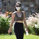 Lucy Hale – Solo hike in Studio City