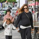 Jessica Alba and Her Daughters Go Out