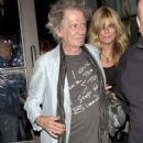 Keith Richards and Patti Hansen leaving Spago Restaurant in Beverly Hills, California on April 20, 2013