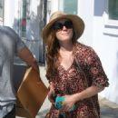 Amy Adams in Long Dress Shopping in Los Angeles - 454 x 590