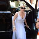 Lady Gaga in White Dress – Out in New York City