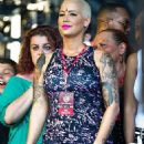 Amber Rose and Beyonce at the Made in America Music Festival in Philadelphia, Pennsylvania - September 1, 2013