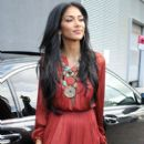 Nicole Scherzinger arrives at The X Factor bootcamp in Liverpool