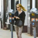 Emma Roberts in Leopard Print Tights – Shopping in Hollywood