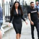 Alice Goodwin in Black Ttight Dress – Eexits 'Celebs Go Dating' with Jermaine Pennant in London - 454 x 634