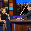 Scarlett Johansson – On The Late Show with Stephen Colbert in NYC - 454 x 303