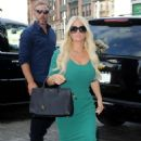 Jessica Simpson Outside Her Hotel In Nyc