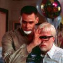 Hank (Jim Carrey) has something to show Whitey (Michael Bowman) an albino who joins the road adventure in 20th Century Fox's Me, Myself & Irene - 2000 - 400 x 276