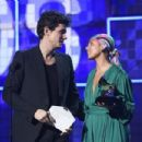 John Mayer and host Alicia Keys At The 61st Annual Grammy Awards - Show - 454 x 303