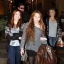 Miley Cyrus was spotted out with her family yesterday, April 3, in Sherman Oaks