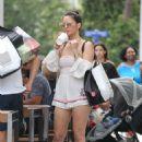 Olivia Munn – Leaving a restaurant in Miami Beach