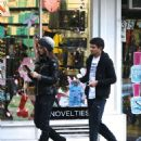 Izabel Goulart with her brother shopping in New York - 454 x 592