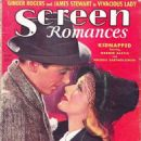 Ginger Rogers, James Stewart - Screen Romances Magazine Cover [United States] (May 1938)