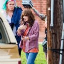 Winona Ryder – On set for 'Stranger Things' in Atlanta