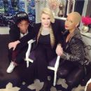 Amber Rose and Wiz Khalifa on Fashion Police - January 27, 2014 - 454 x 456