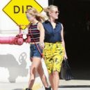 Reese Witherspoon takes her look-alike daughter Ava to the hospital for some blood-work on August 14, 2015 in Santa Monica, California