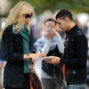 Claudia Schiffer Candids In London, October 1 2009