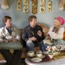 "From left to right: ERIK STOLHANSKE as Todd Wolfhouse, PAUL SOTER as Jan Wolfhouse and CLORIS LEACHMAN as Great Gam Gam in Warner Bros. Pictures' and Legendary Pictures' comedy ""Beerfest."" Photo by Richard Foreman, Jr., SMPSP"