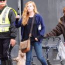 Amy Adams Performs on the Set of 'Sharp Objects' - 434 x 600