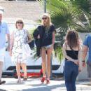 Stella Maxwell – In a denim shorts out in Venice Beach