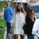 Jennifer Lopez and Alex Rodriguez – Seen with friends at San Vicente Bungalows
