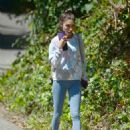 Chantel Jeffries – In yoga pants seen after gym in Los Angeles - 454 x 592