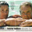 Astrid Veillon and Alain Delon