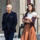 Katie Holmes and Patrick Stewart out in Montreal - 454 x 303