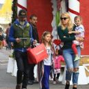 Busy Phillips goes holiday shopping with her family at The Grove in Los Angeles, California on December 10, 2016 - 454 x 537