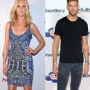 Anne Vyalitsyna and Calvin Harris