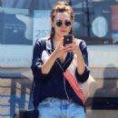 Elizabeth Olsen in Cut-offs out in Studio City