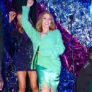 Kylie Minogue wears Ermano Scervino - Warner Music Group Brit Awards After-Party